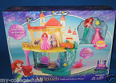 Disney Princess The Little Mermaid Castle & Undersea Playset With Ariel NEW