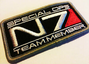 MASS EFFECT N7 Logo Patch Aufnäher Special Ops Team Member iron on zum Aufbügeln - Villach, Österreich - MASS EFFECT N7 Logo Patch Aufnäher Special Ops Team Member iron on zum Aufbügeln - Villach, Österreich