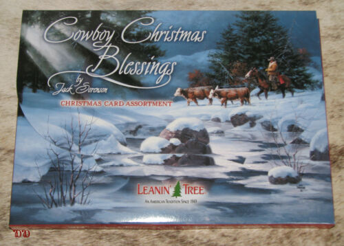 LEANIN TREE Cowboy Christmas Blessings Cards 2 each of 10 designs w/ envelopes