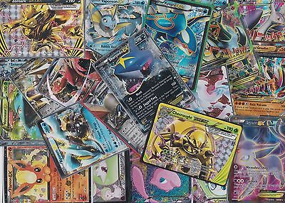 Pokemon TCG 50 Card Lot Guaranteed Ex/FA OR Mega Ex + Holos + Rares