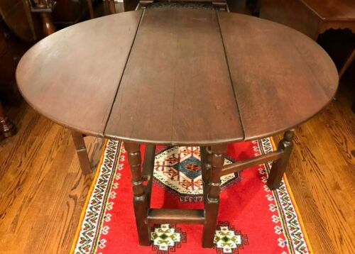 Antique 18th Century George I Oak Gate Leg Table - Shipping Available