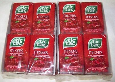 Tic Tac Mixers, Cherry Cola, 1 oz, 2 Packs of 12  (24 Packs Total)  Exp:06/2018
