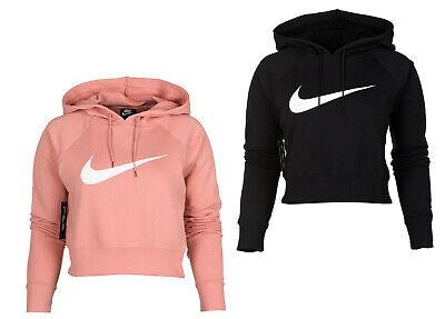 Nike Damen Sportswear Swoosh Cropped Ft Kapuzenpullover  Nike Damen Pullover
