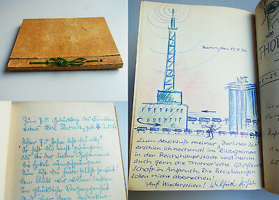 Gästebuch Luise & Major Karl THORNER / Neckarelz 1947/48 & BERLIN-Dahlem 1948-61
