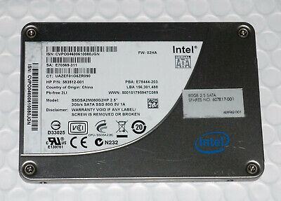 Intel 80GB 2.5