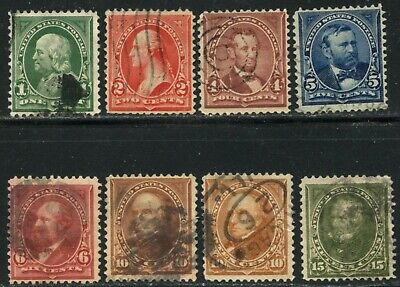 US Sc#279-284 1898 1c-15c Changed Colors Complete Set F-VF & Sound Used Nice
