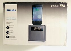 Philips AJT3300/37 Bluetooth Dual Alarm Clock Radio iPhone/Android Speaker Dock