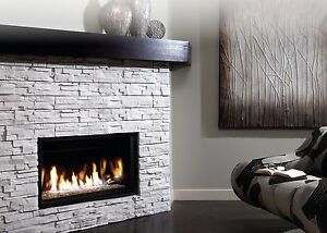 Linear Gas Fireplace Ebay