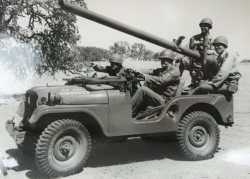 Korean War Jeep Recoilless Rifle 63rd Infantry 27th Wolfhounds Camp Roberts FTX