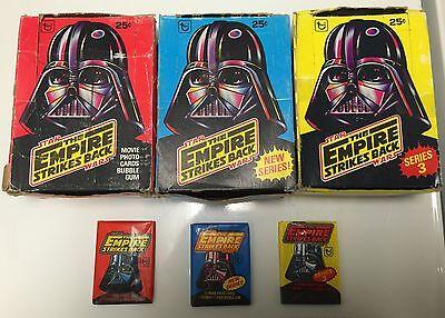 STAR WARS V-Empire Strikes Back+ Vintage Wax Packs Grab Bag Lot of (10) Unopened