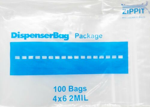 "1000 Reloc Zippit Bags 4x6 Clear 2mil Reclosable 4"" x 6"" Zip Seal Lock Bag 1,000"