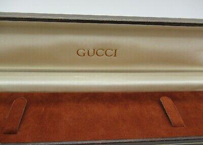 Genuine Vintage Gucci Case Necklace Bracelet Watch Leather Jewelry Box