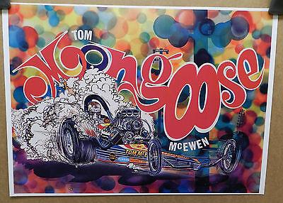 1968 TOM MONGOOSE MCEWEN DODGE BOYS DRAGSTER DRAG RACING CAR CRAFT MOPAR POSTER