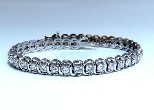3.80ct Natural Diamonds Interlink Tennis Bracelet 14kt Gold