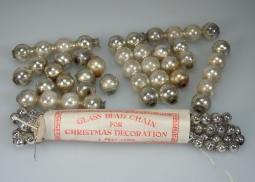 Vintage Antique Mercury Glass Beads for Christmas Garland     54011