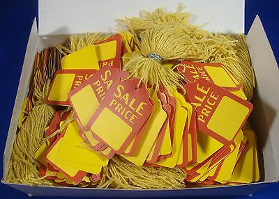 1000 Qty. Sale Price Strung Merchandise Tags 5 Retail Store Supplies