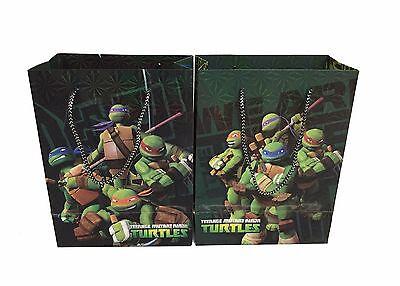 6pcs Nickelodeon Ninja Turtles Party Goodie Bags Party Favor Paper Gift Bags - Ninja Turtles Party Bags