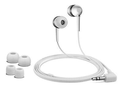 Universal Cascos Intrauriculares con Cable 3.5mm Audio Jack MP3 Música - Blanco