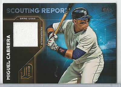 (2016 Topps Miguel Cabrera Scouting Report Game Used Jersey Relic #SRR-MC TIGERS)