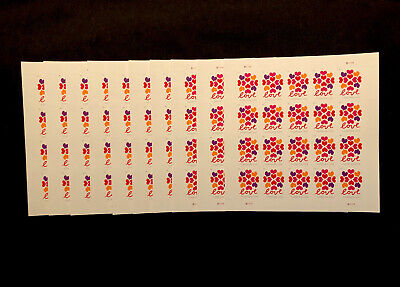 FOREVER STAMPS 200 LOVE HEARTS (10 SHEETS OF 20 HEARTS = 200 VERY BEAUTIFUL ❤️