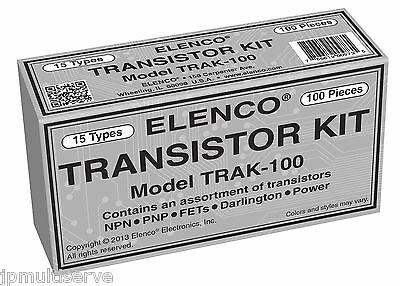Transistor Assortment 100pc Kit Elenco Trak-100