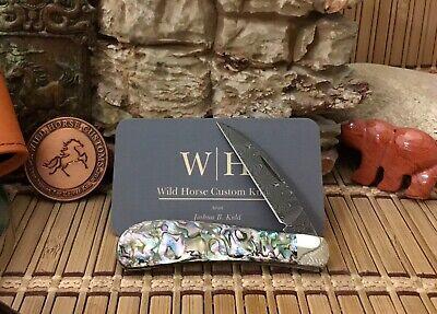 Case XX Exquisite Wild Horse Custom PAUA ABALONE Damascus Swayback Jack Knife #5