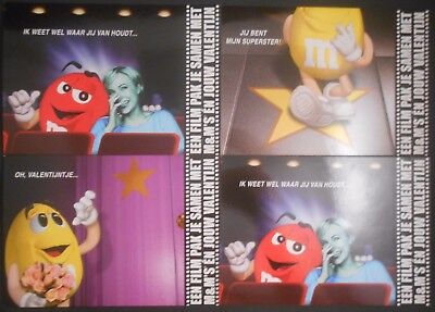 M&M's Candy Dutch Valentine's Day Postcard LOT Movie Promo Germany Netherlands