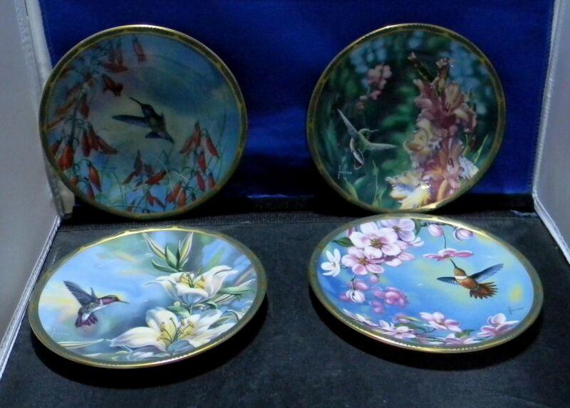 Pickard Gems of Nature: The Beautiful Hummingbirds Plates 1,2,3,4.