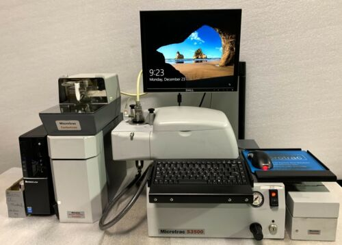 Microtrac S3500 Particle Size Analyzer-High Dry Config  2.75 to 2800u /4 mo wrty