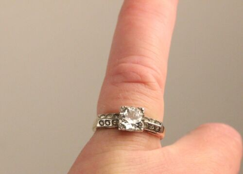 Antique 10k Gold Filled and Sterling Silver Ring