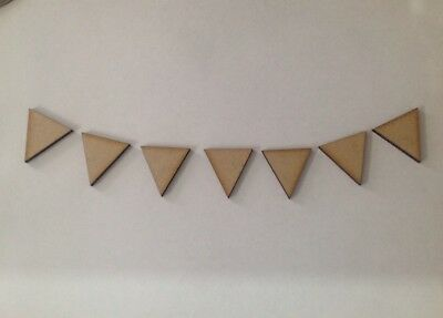 30 X Wooden Craft Shapes Bunting 3cm