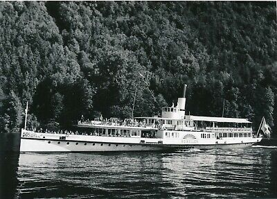 Used, Argentique paddle wheel steamship steam boat Schiller Suisse lac animée  for sale  Shipping to Canada