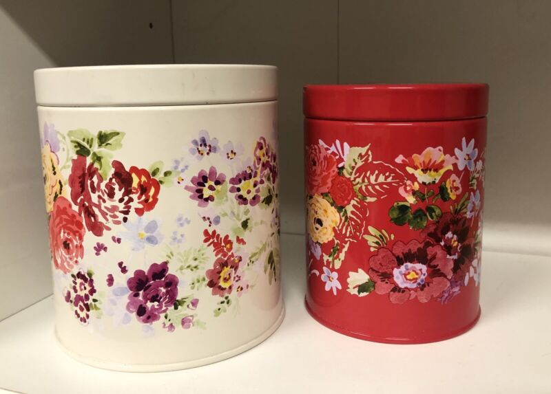 The Pioneer Woman Tin Canister Set Garden Meadow