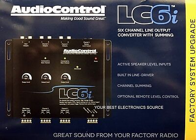 NEW Audio Control LC6i 6 Channel Line Out Converter with Internal Summing, BLACK