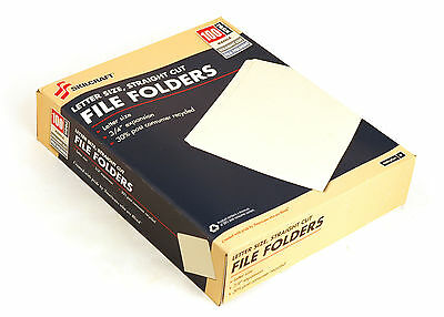 Letter Size File Folders Manila Full Tab Straight Cut 3/4