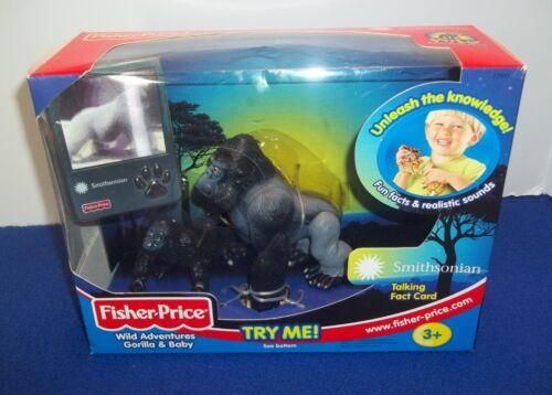 Fisher Price Wild Adventures Gorilla Baby Realistic Animal Sounds Figure Toy