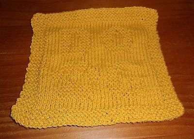 Brand New Dog Design Gold Knit Dish Cloth For Cocker Spaniel Rescue Charity