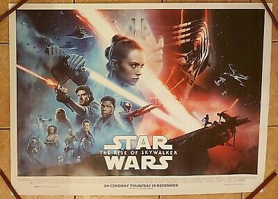 STAR WARS THE RISE OF SKYWALKER UK QUAD POSTER 30 X 40 INCHES