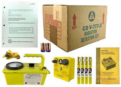 Cd V-777-2 Vintage Radiation Fallout Detection Meters Dosimeter Set Box