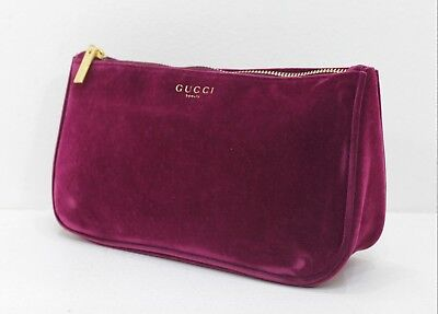 GUCCI VELVET MAKEUP BAG / COSMETICS POUCH