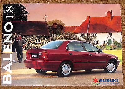 1996 SUZUKI BALENO 1.8 SALOON Sales Brochure