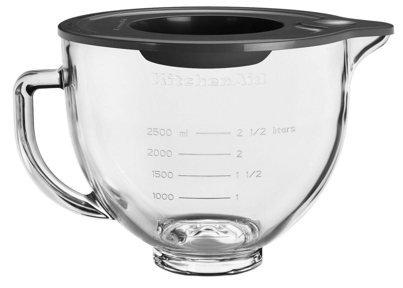 KitchenAid Glasschüssel 4,8 Ltr. mit Silikondeckel 5KSM5GB
