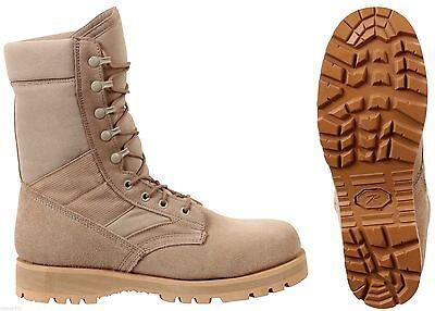 """Desert Tan Military Boots Sierra Sole 8"""" Tactical Desert Boo"""