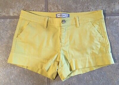 Abercrombie & Fitch  Ladies Size 8 Classic Yellow Cotton Blend Casual Shorts