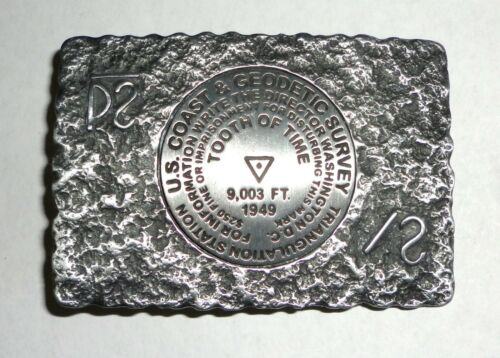 Philmont Scout Ranch Tooth of Time US Geological Survey Marker Belt Buckle