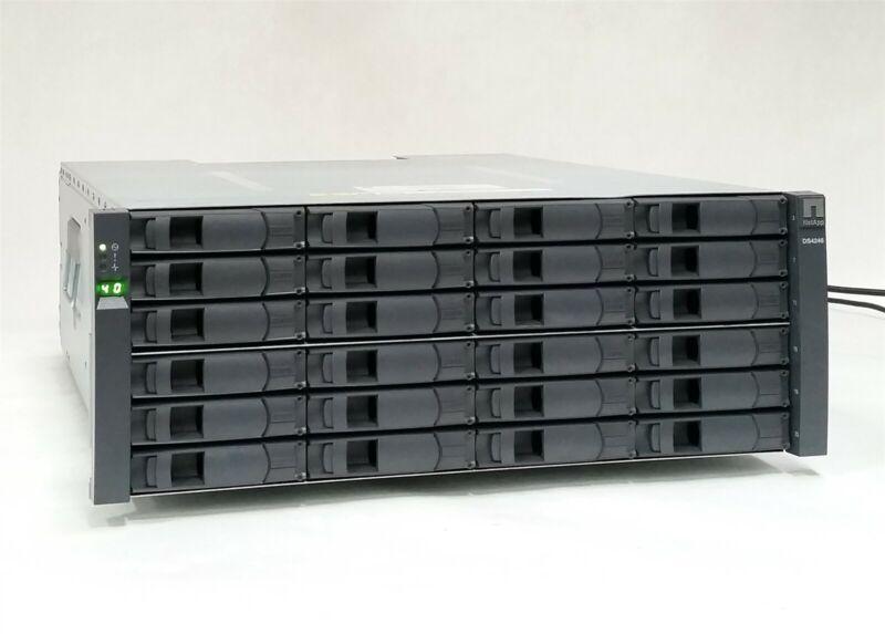 NetApp DS4246 24-Bay 4U SAS/SATA Disk Array 2*IOM6 Controller 2*580W+Caddies