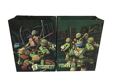 Ninja Turtle Goodie Bags (Teenage Mutant Ninja Turtle Birthday Goody Gift Loot Favor Bags Party Supplies)