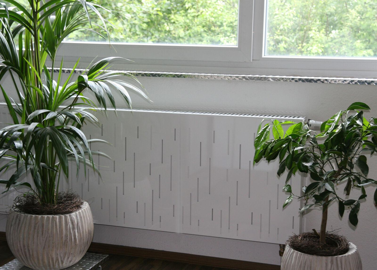 Heizkörperverkleidung Rain, 62 x 20 cm, weiß, Heizkörperabdeckung Heizkörper