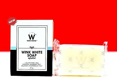 80g GLUTA SOAP WINK WHITE L-GLUTATHIONE FACIAL BODY CLEANSING WHITENING SKIN