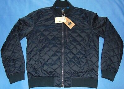 NWT  MEN'S  BARBOUR  ASTERN  NAVY BLUE  QUILTED  BOMBER JACKET  XL  $279